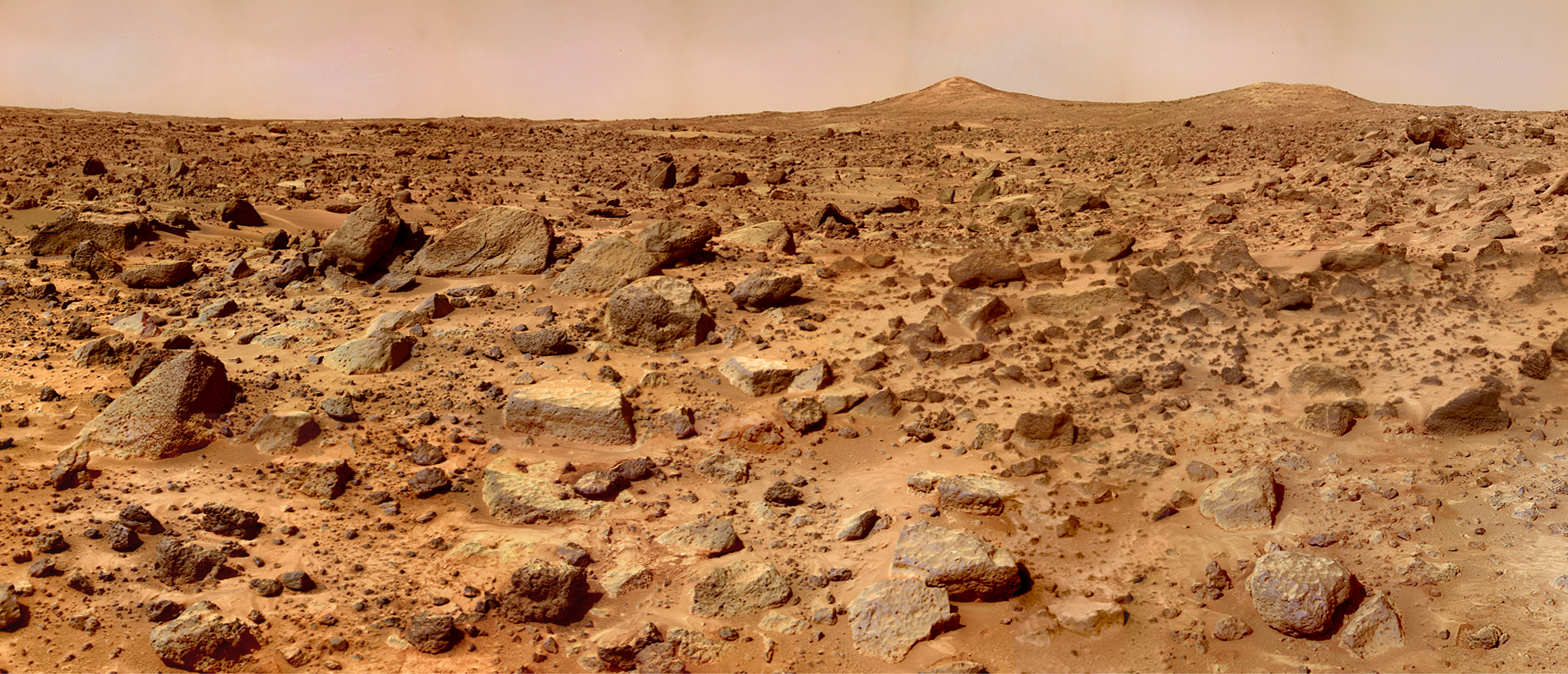 Pathfinder, 1997: The first mission to land a rover on Mars, Pathfinder touched down in Ares Vallis, an ancient flood plain in the planet's northern hemisphere. Among the 2.3 billion bits of data sent back by the lander and its rover, Sojourner, were 15 chemical analyses of rocks and soil, which suggested Mars had once had liquid water and a thicker atmosphere.