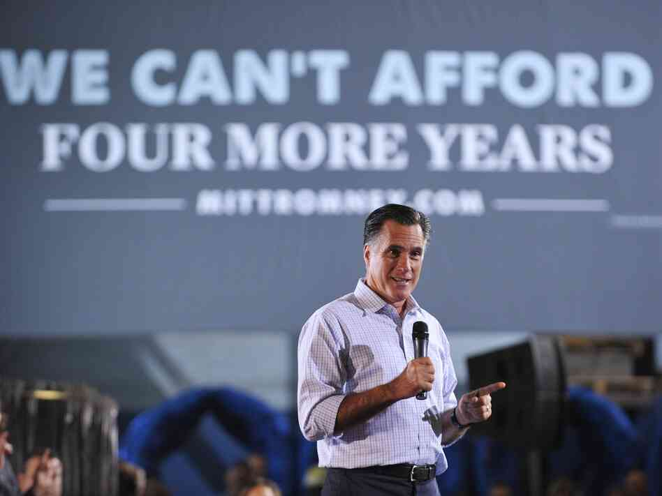Republican presidential candidate Mitt Romney speaks during a roundtable discussion on manufacturing this Wednesday in Bedford Heights, Ohio.