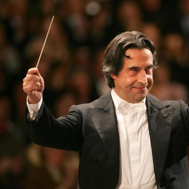 Chicago Symphony Orchestra Music Director Riccardo Muti.