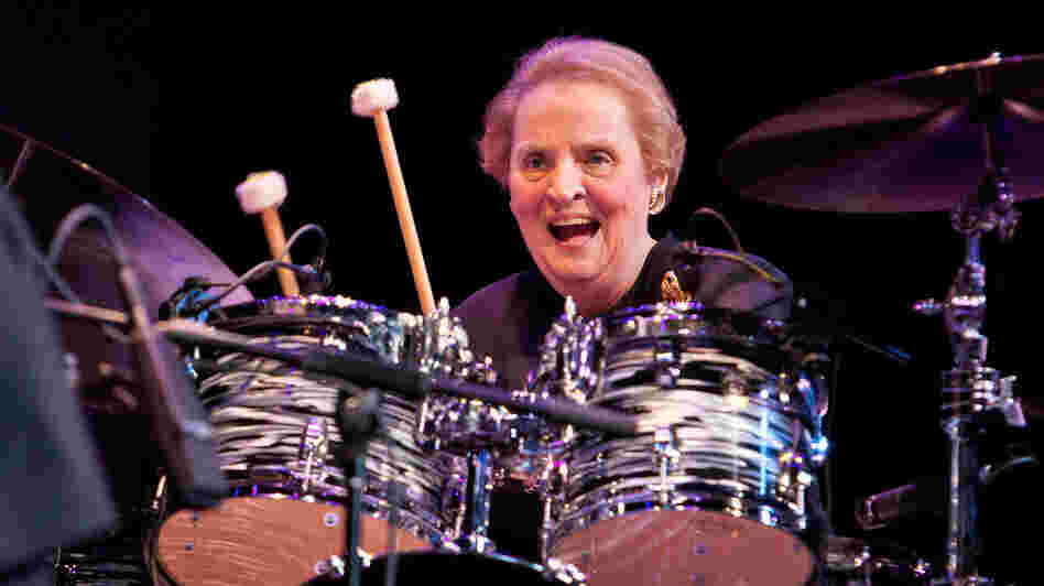 "Madeleine Albright ""sits in"" with Chris Botti at the Thelonious Monk International Jazz Competition and final round gala."
