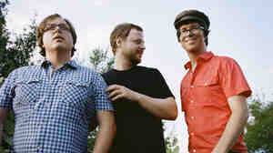 Ben Folds Five (from left): Robert Sledge, Darren Jessee and Ben Folds.