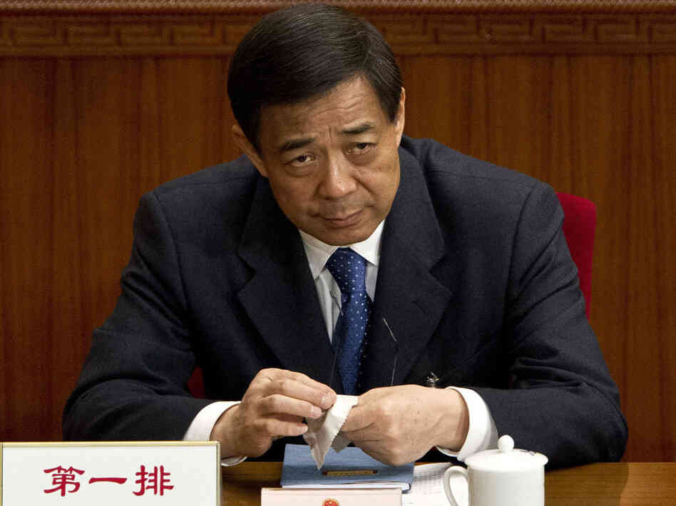 Bo Xilai, one of the country's most prominent politicians before he fell from grace this year, was expelled from the Communist Party on Friday. He is shown here in March