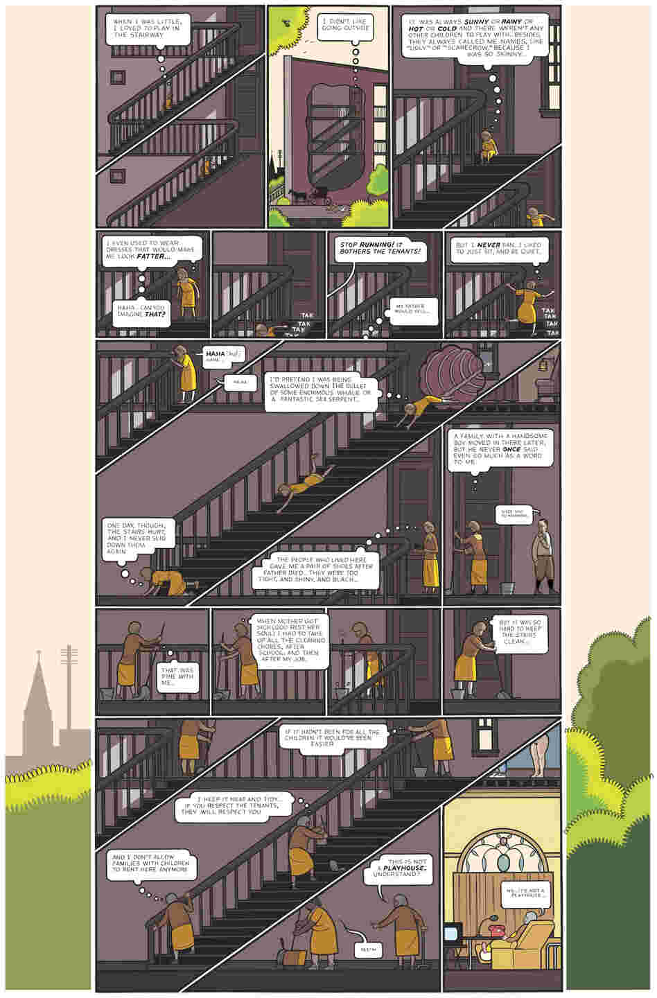 4: The award-winning creator of Jimmy Corrigan: The Smartest Kid on Earth presents an intricately illustrated, sprawling tale about the residents in a three-story Chicago apartment building, including a lonely single woman, a couple who are growing to despise each other and an elderly landlady.