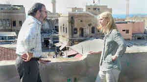 A phone call from her former boss, Saul (Mandy Patinkin), delivers Carrie Mathison (Claire Danes) back into the action of Homeland's second season.