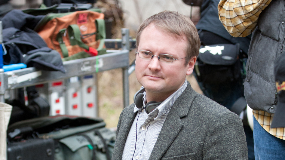 Director Rian Johnson on the set of Looper. (Sony Pictures)