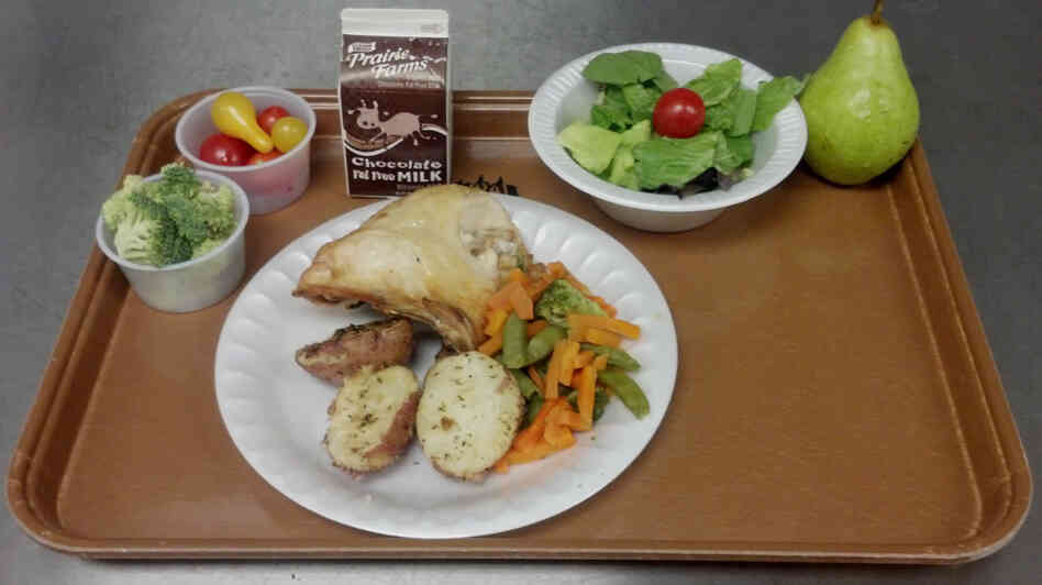 Michelle Kloser, School Nutrition Director for the West Salem School District in Wisconsin took this picture of Thursday's lunch, which includes baked chicken and rosemary potatoes.