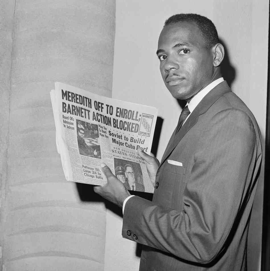James Meredith was the first African-American student at the University of Mississippi. The school had originally rejected his application, and a legal battle ensued. In 1962, segregationists protesting his admittance to Ole Miss led to bloody riots on campus.