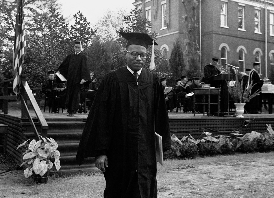 Meredith received his Bachelor of Arts degree in graduation ceremonies in August 1963. He had already taken several years of college courses at an all-black college before enrolling at Ole Miss. (AP)