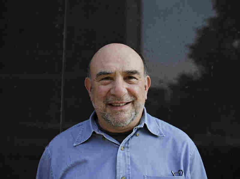 Philip Schultz visits NPR headquarters in Washington on Monday.