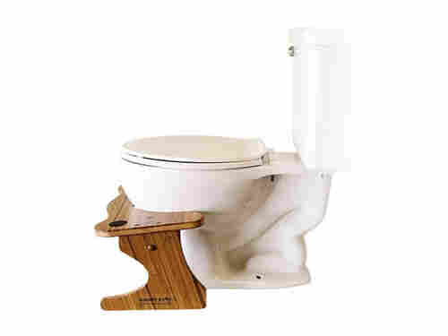 A contractor designed the Squatty Potty to help his mother get closer to the squatting position on the john.
