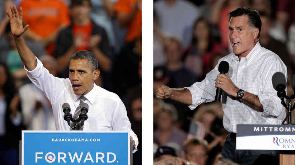 President Barack Obama and Republican presidential candidate Mitt Romney both campa
