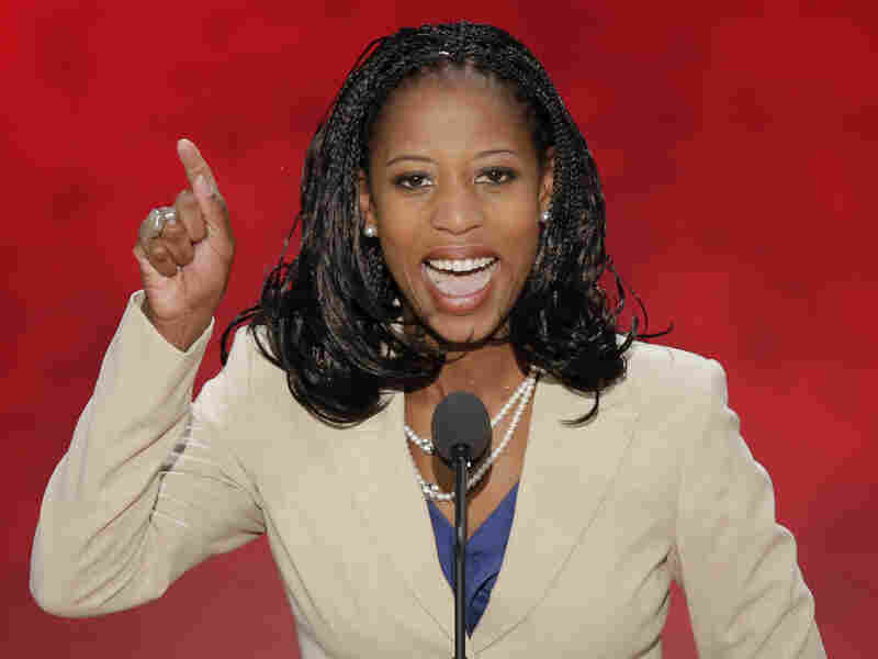 Mia Love, the mayor of Saratoga Springs, Utah, addresses the Republican National Convention in Tampa, Fla., on Aug. 28. She's running for Congress against incumbent Democrat Jim Matheson.