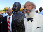 James Meredith at the University of Mississippi in 2006, as the school dedicated a bronze statue in his likeness on campus.