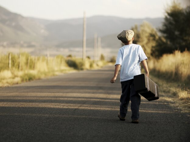 A child wandering.