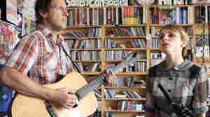 Kat Edmonson performs a Tiny Desk Concert on Sept. 17, 2012.