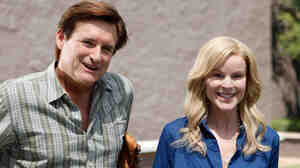Bill Pullman plays Ken, and Marcia Cross plays his wife, Mary, in Bringing Up Bobby.
