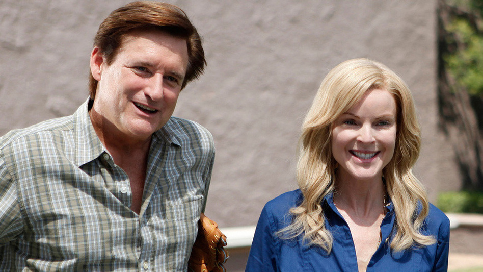 Bill Pullman plays Ken, and Marcia Cross plays his wife, Mary, in Bringing Up Bobby. (Monterey Media)