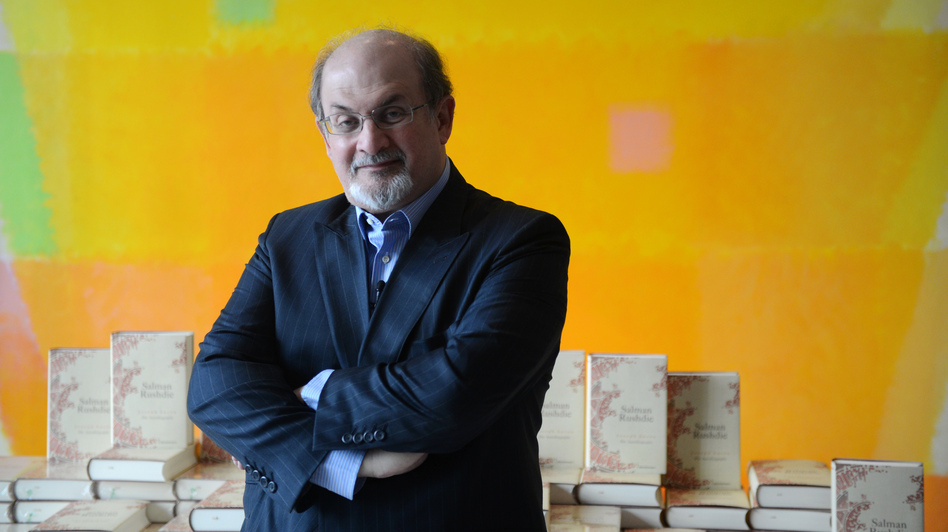 Salman Rushdie is the author of The Satanic Verses, which inspired a fatwah calling for his death. His novel Midnight's Children has been adapted into a film that opens in the U.S. on Nov. 2. (AFP/Getty Images)