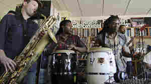Antibalas performs a Tiny Desk Concert on Sept. 25.