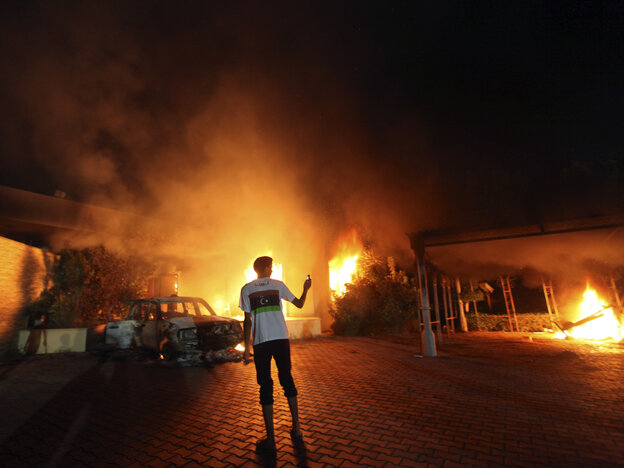 Sept. 11, 2012: A blaze erupted during the attack on the U.S. consulat
