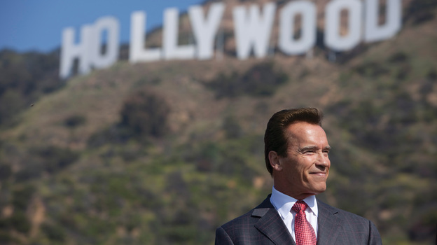 In 2010, during Arnold Schwarzenegger's last year as governor of California, the state partnered with environmentalists and preservationists to set aside the land around the iconic Hollywood sign. (California State Archives)