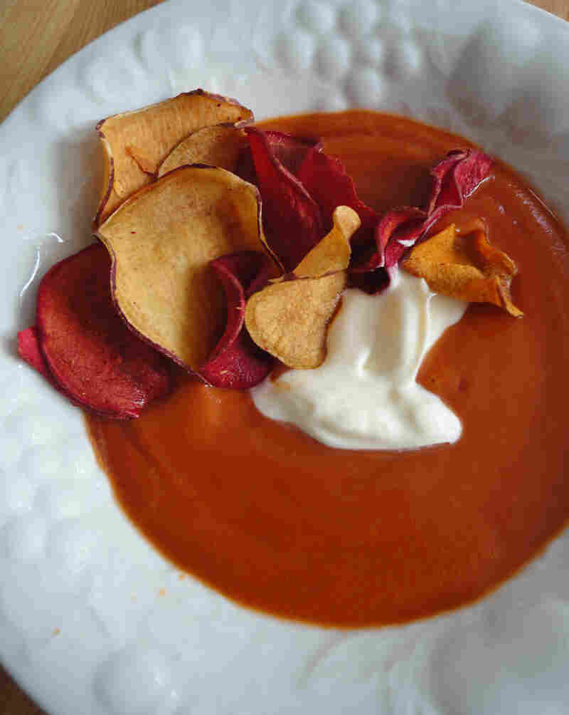 Roasted Pepper And Pear Soup