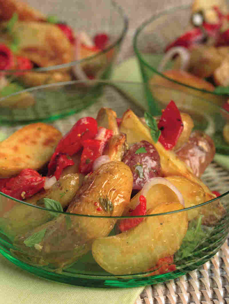 Roasted Fingerling Potato Salad With Lemon-Basil Vinaigrette