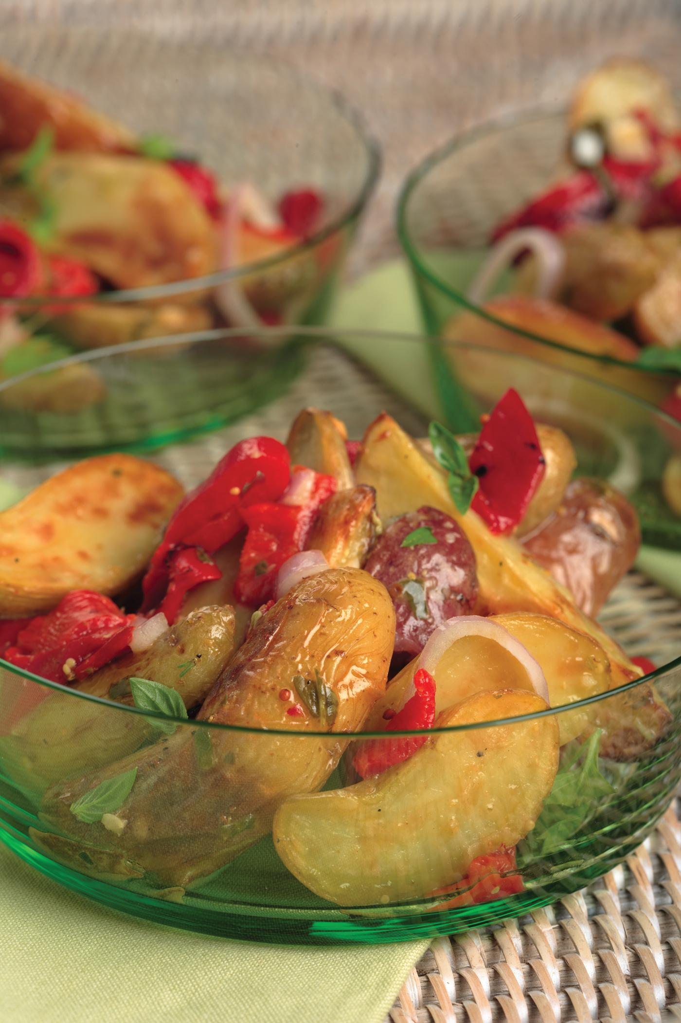 Roasted Fingerling Potato Salad With Lemon-Basil Vinaigrette