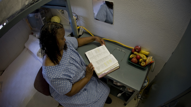 LaVelma Byrd, photographed at the California Institution for Women in Chino, Calif., was convicted of murdering her husband in 1994. She never let on that her husband beat her on a regular basis. She is not eligible for parole until 2020. (Courtesy of Sin by Silence)