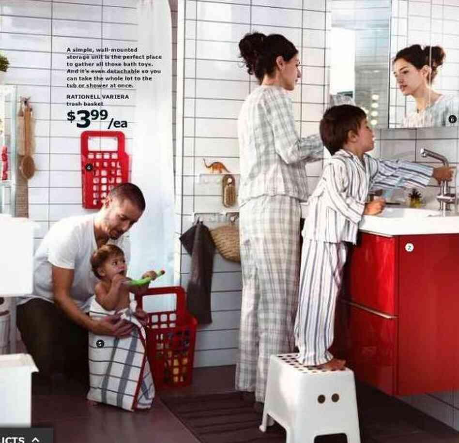 Now you see her (in IKEA's catalog for the U.S.).
