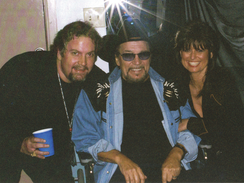 From left to right: Robby Turner, Waylon Jennings and Jessi Colter. (Courtesy of the artist)