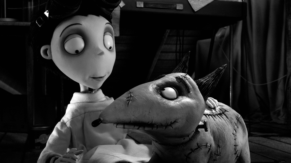 After his best friend and beloved dog dies, Victor Frankenstein (Charlie Tahan) decides to harness the power of mad science to bring Sparky back to life — albeit a little the worse for wear. (Walt Disney Pictures)