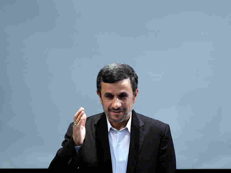 Iranian President Mahmoud Ahmadinejad during a news conference in Tehran on Tuesday.
