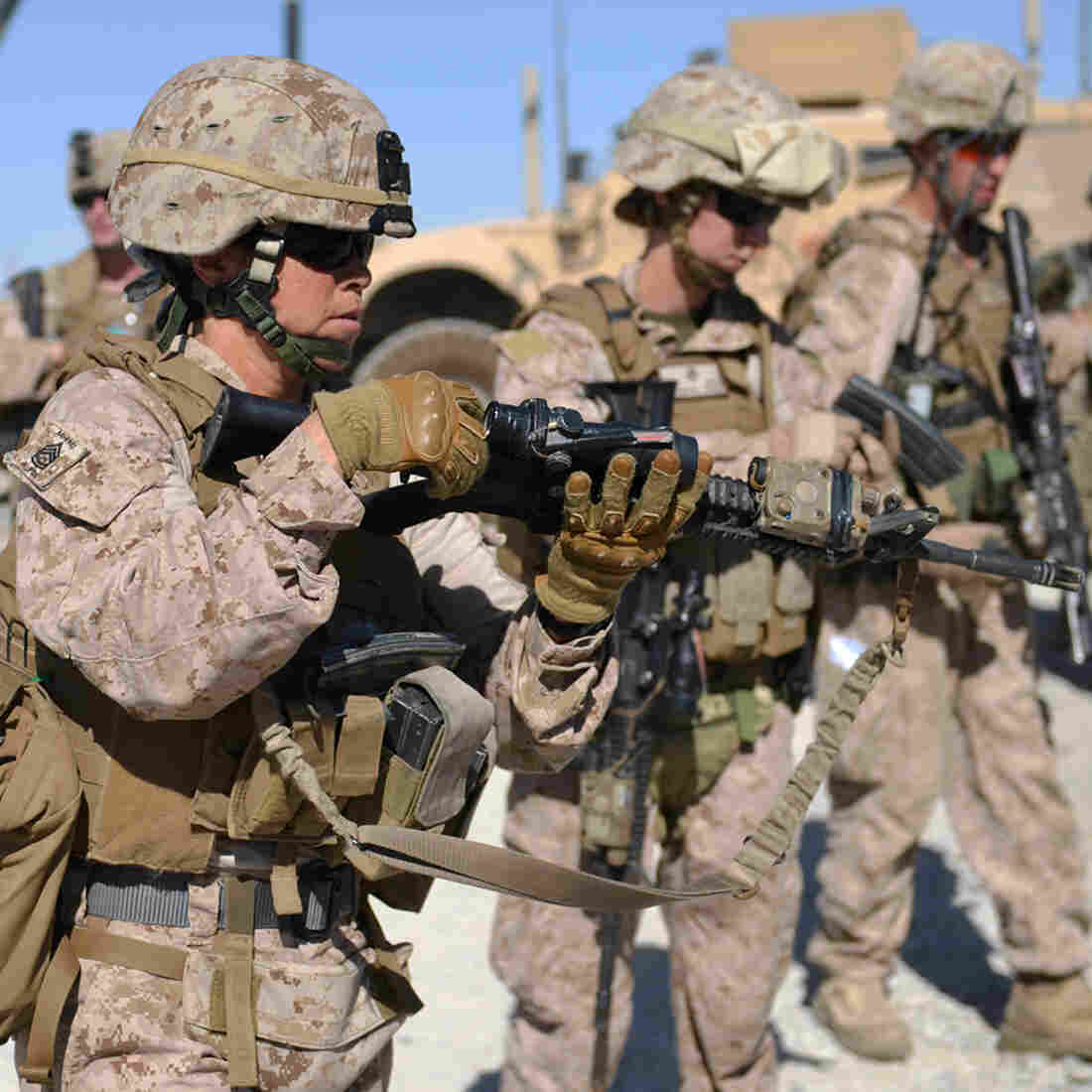 First Female Marines Take Combat Leadership Test