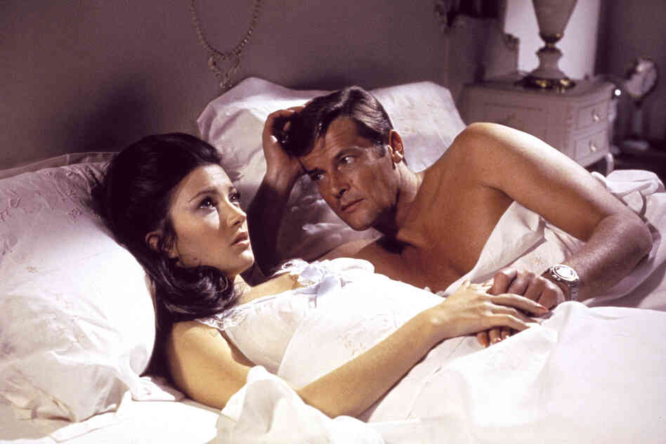 A scene from 1973's Live and Let Die features Jane Seymour and Roger Moore. In the film, Moore wears a supermagnetic wristwatch said to deflect bullets at long range.