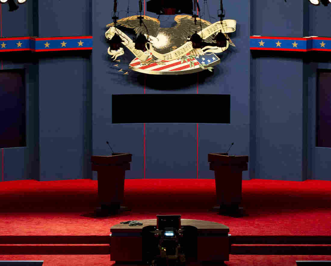 The stage is set: Tonight's debate is at the University of Denver.