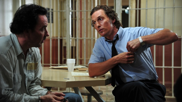Miami reporter Ward Jansen (Matthew McConaughey) investigates the murder conviction of Hillary Van Ward (John Cusack), who may have been wrongly charged. (Millennium Entertainment)