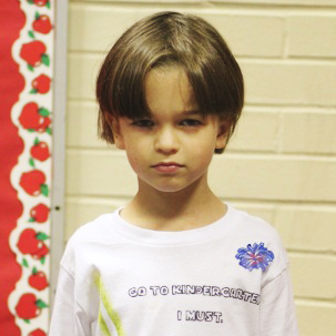 "On his first day of kindergarten, 5-year-old Ben Blier sported a Yoda T-shirt declaring ""Go to Kindergarten I Must"" on the front and ""Learn Things I Will"" on the back."