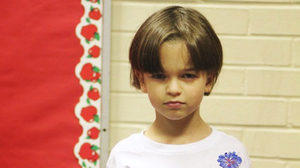 """On his first day of kindergarten, 5-year-old Ben Blier sported a Yoda T-shirt declaring """"Go to Kindergarten I Must"""" on the front and """"Learn Things I Will"""" on the back."""