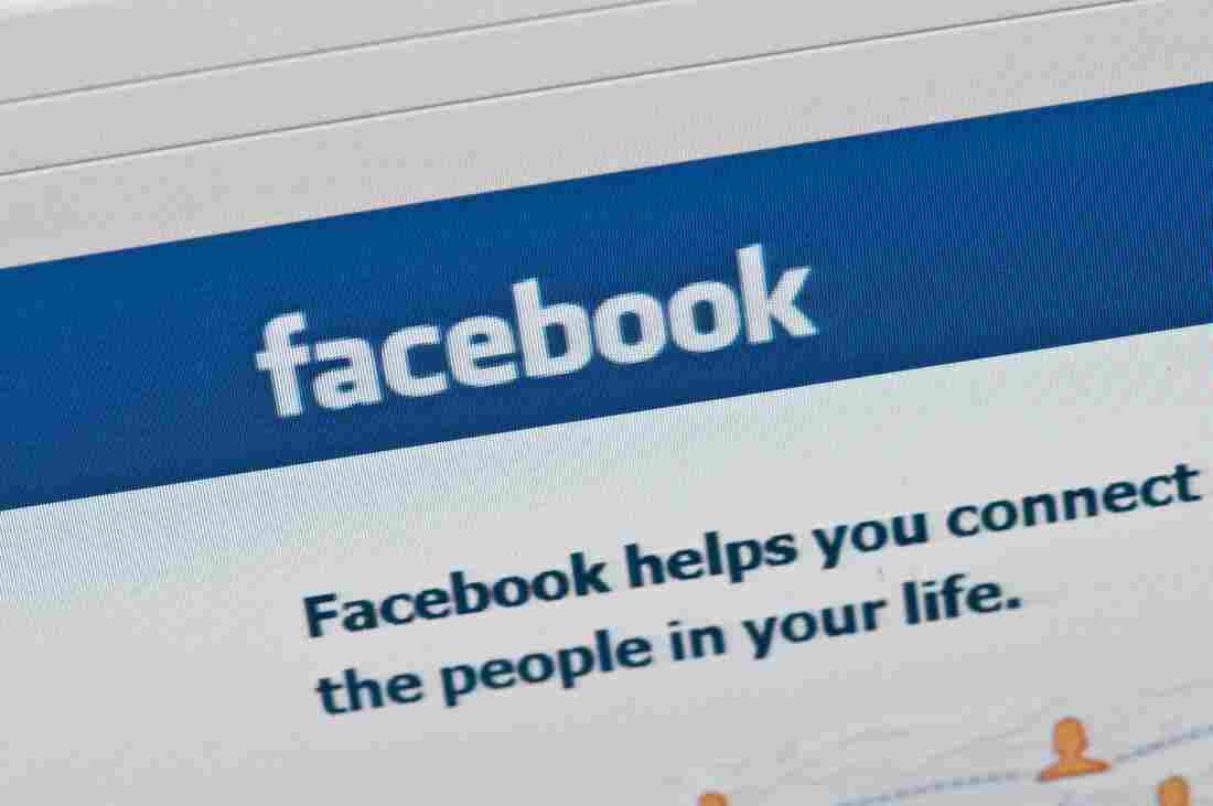 The Facebook homepage.