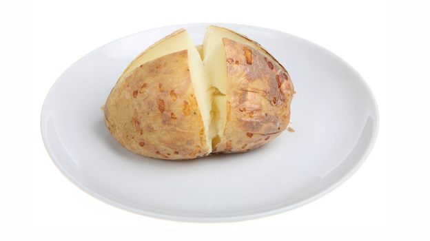 A hoarded baked potato appears to have been the source of botulism in some prison-made hooch. (iStockphoto.com)