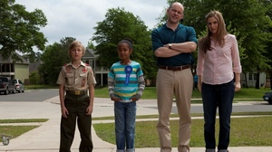 A butter sculpting prodigy (Yara Shahidi, second from left) has a chance to end the Picklers' reign with the help of her friend (Brett Hill) and her foster parents (Rob Corddry and Alicia Silverstone).