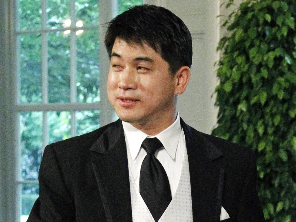 Olympic speedskating coach Jae Su Chun arrives for a State Dinner at the White House in May 2010. Chun is accused of verbally, physically and psychologically abusing various members of the U.S. short track team. (AP)