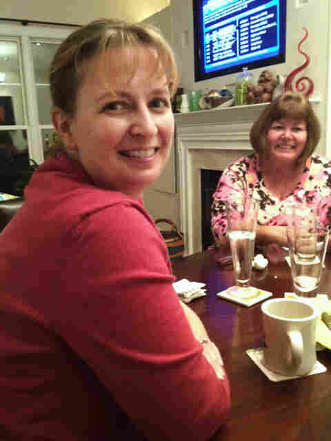 Kim Deal (left) and Connie Moser, at Deal's house in Occoquan, Va.