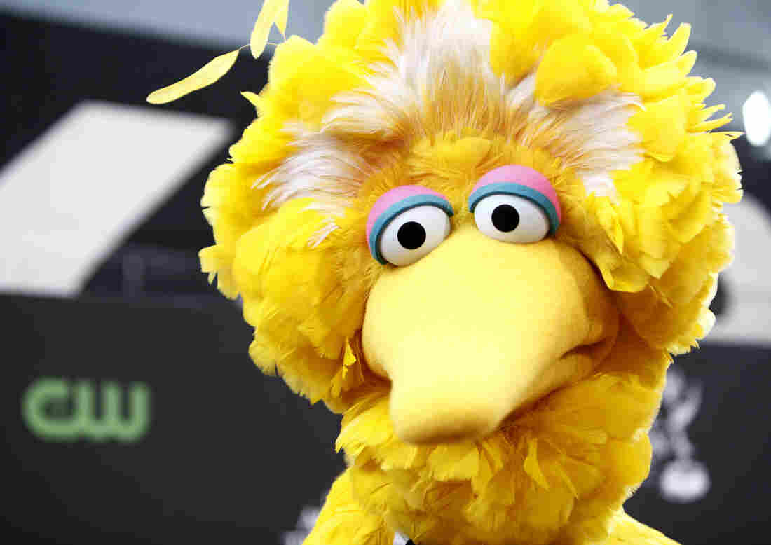 Big Bird, of the children's television show Sesame Street, in Los Angeles.