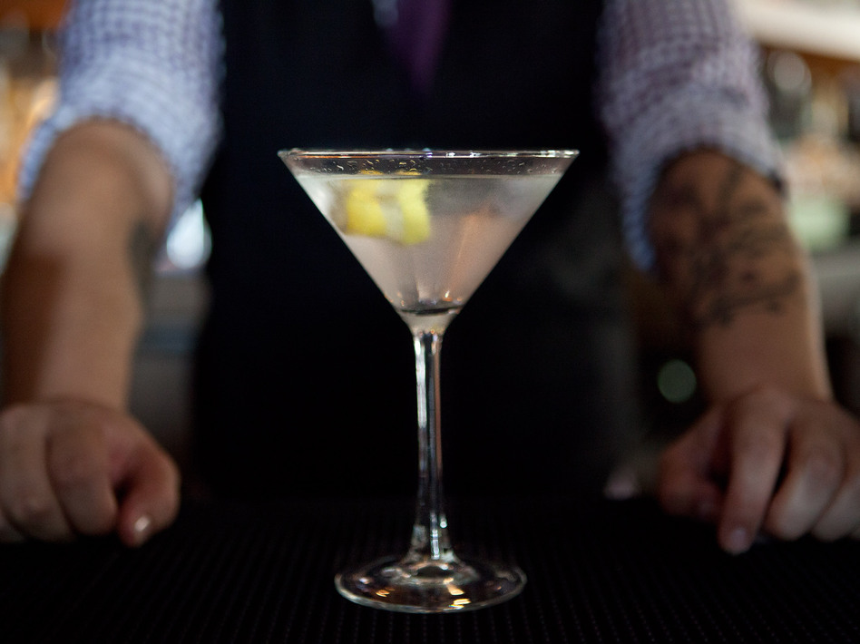 One martini; shaken, not stirred.