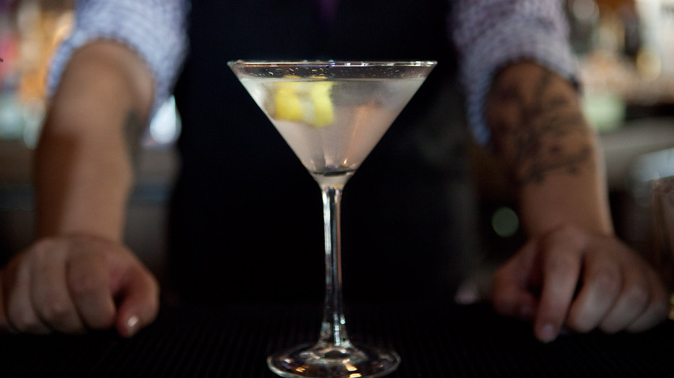 One martini; shaken, not stirred. (NPR)