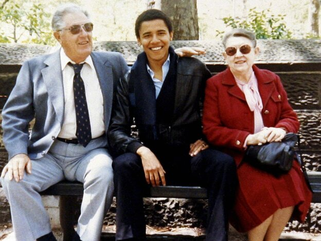 While he was attending Columbia University in New York City, Barack Obama's maternal grandparents — Stanley and Madelyn Dunham — visited him there. The president lived with them in Hawaii for much of his youth.