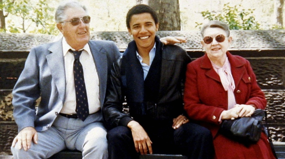 While he was attending Columbia University in New York City, Barack Obama's maternal grandparents — Stanley and Madelyn Dunham — visited him there. The president lived with them in Hawaii for much of his youth. (Reuters /Landov)
