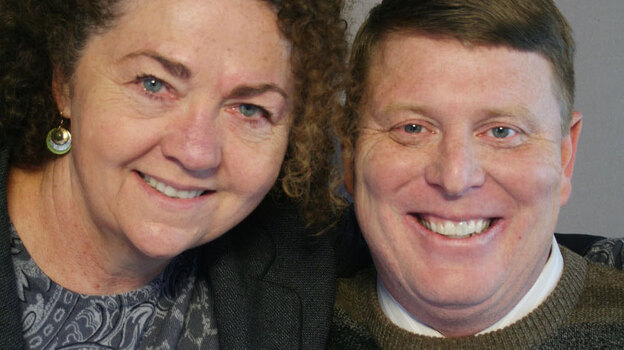 Ken Rensink found his calling, teaching special education, after a debilitating accident when he was 19. Now 47, he talked about his journey with friend and colleague Laurel Hill-Ward at StoryCorps in Chico, Calif. (StoryCorps)